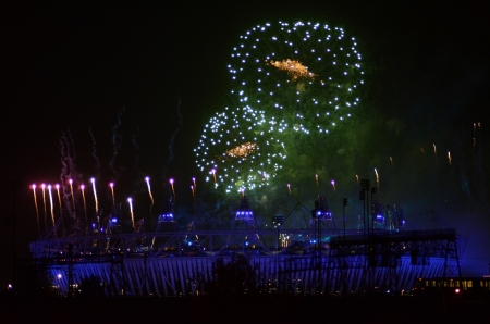 september 9th: London � September 9: Firework Signifying The End Of The Paralympic Games Closing Ceremony In Stratford London September 9th, 2012 in London, England.
