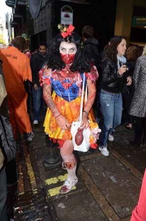 putrefy: London � October 13: People celebrate World Zombie Day London 2012 by dressing as Zombies October 13th, 2012 in London, England.