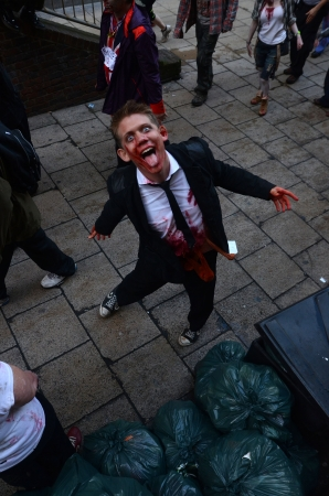 fester: London – October 13: People celebrate World Zombie Day London 2012 by dressing as Zombies October 13th, 2012 in London, England.