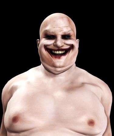 clown cirque: Tr�s gras de clown psychopathe et horrible � la recherche.