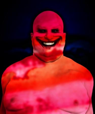 clownophobia: Muy gorda y horrible payaso psic�pata buscando Foto de archivo