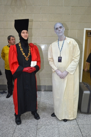 London � October 20: Fans In Costume Attend Destination Star Trek England's Largest Ever Star Trek Convention October 20th, 2012 in Excel Centre London, England.  Stock Photo - 15876931