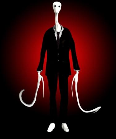 The slender man of internet mythology Stock Photo - 16452520