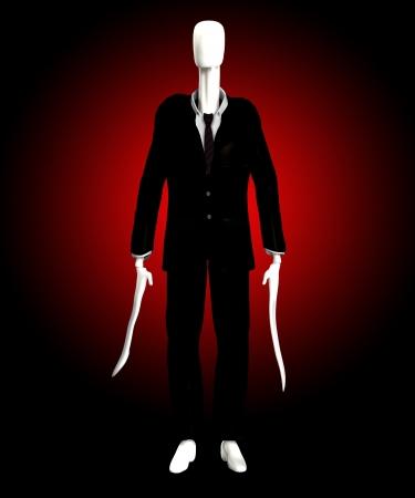 faceless: The slender man of internet mythology  Stock Photo