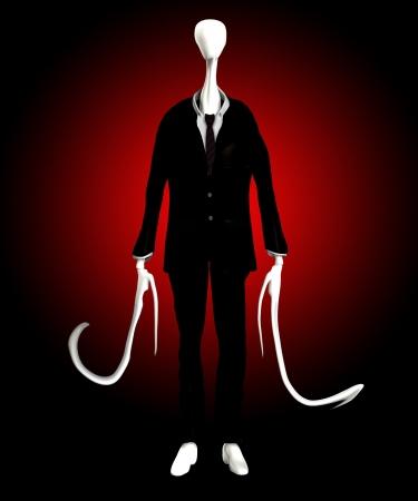 The slender man of internet mythology Stock Photo - 16452518