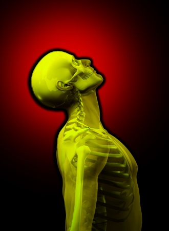 Transparent man with visible skeleton underneath the skin  Stock Photo - 16452460