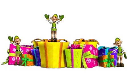 contended: Lots of Elves with some very large presents
