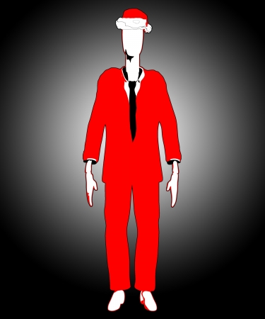 The mythological Slenderman in Christmas attire  Stock Photo - 16879379