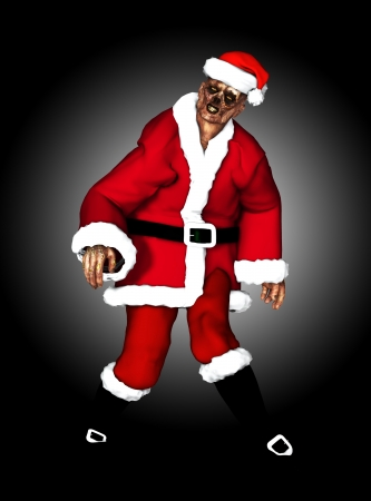 A festive Zombie for the Christmas Holiday Stock Photo - 16879378