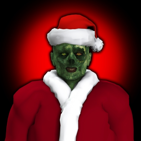 Zombie dressed up as Santa Claus   Stock Photo - 16879420