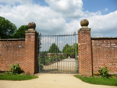 walled: The gates to the walled garden within Lydiard Park In Swindon.
