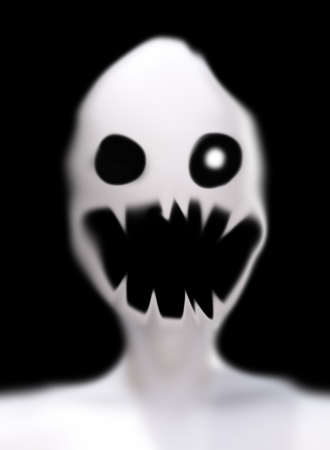 ghost face: Scary looking ghost face for Halloween  Stock Photo