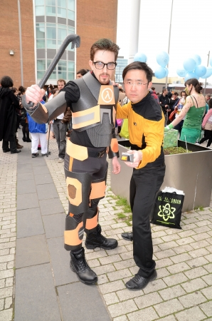London � April 28: People dressing up in cosplay costume to take part in the Sci Fi London Parade which marks the start of the 2013 Sci Fi London Film festival in Stratford in London April 28th, 2013 in London, England.