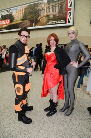 London - May 26: People dressing up in Cosplay costume to take part in the MCM expo which has the largest gathering of Cosplayers in the country, which takes place in Excel Centre, London May 26th, 2013 in London England.