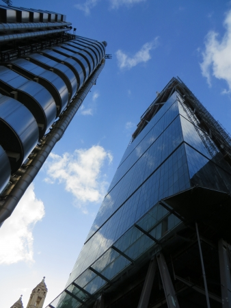 lloyd's: The Lloyds of London building located in the city of London. Stock Photo