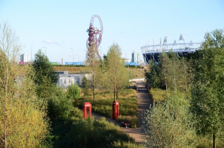 London � July 28: The opening weekend of the Olympic Park which is on the former site of the 2012 Olympic Games in Stratford , East London July 28th, 2013 in London England.