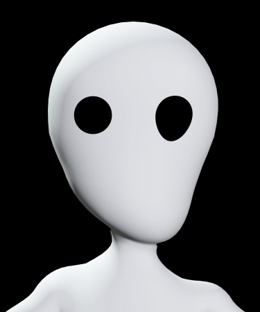 emotionless: Creepy blank face with hollow eyes that are distorted.  Stock Photo
