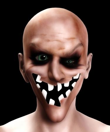 clownophobia: Payaso malvado con una boca realmente horrible.