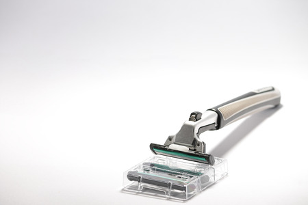 refill: razor - with refill blades Stock Photo