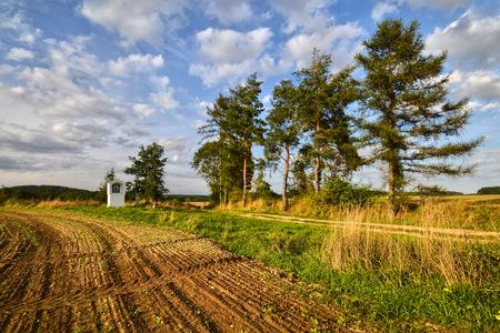 lone pine: capilla en los campos cerca de pino solitario