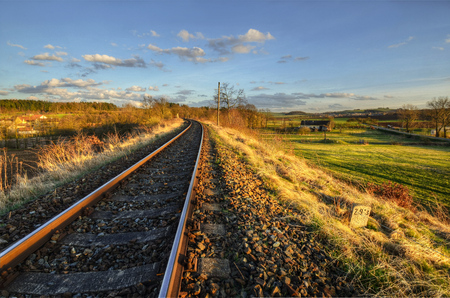 south western: in late April afternoon at South Western Railway