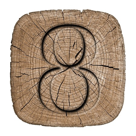 Wooden vintage numeric collection, number 8 photo