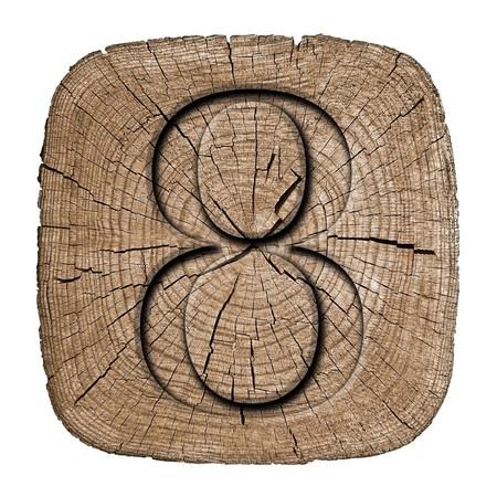 Wooden vintage numeric collection, number 8 Zdjęcie Seryjne