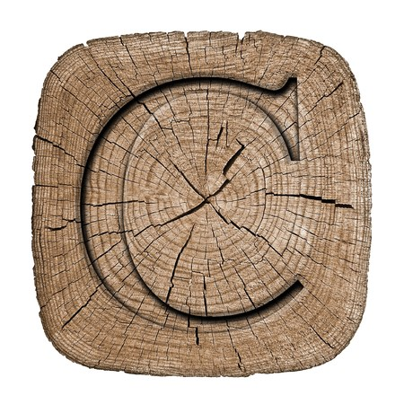 wooden block letter: Wooden alphabet block, letter C