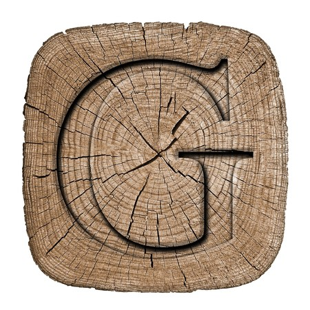 black block: Bloque del alfabeto de madera, letra G
