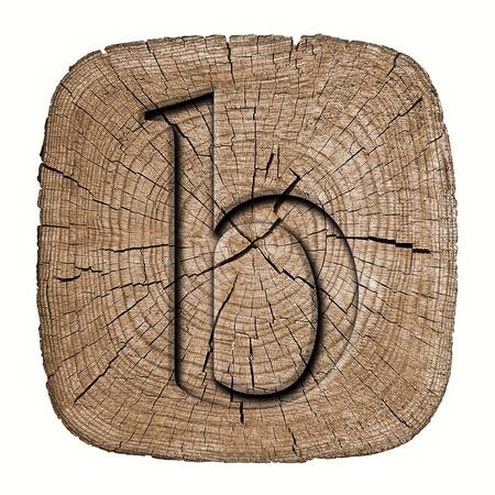 Wooden alphabet block, letter b photo
