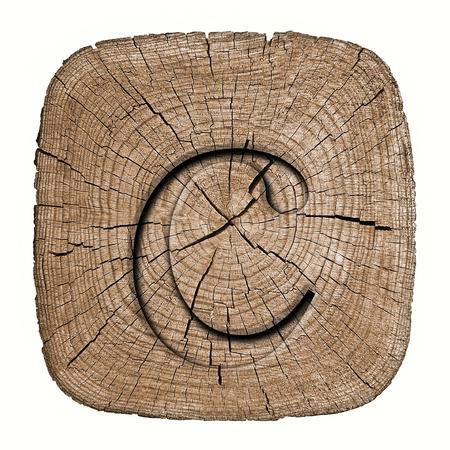Wooden alphabet block, letter c photo