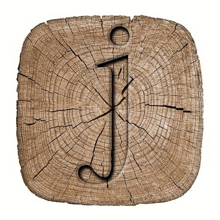 Wooden alphabet block, letter j photo