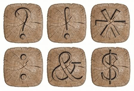 Wooden alphabet signs photo