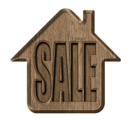Wooden signs, house for sale photo