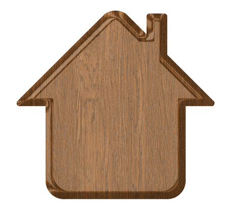 Wooden home icon photo