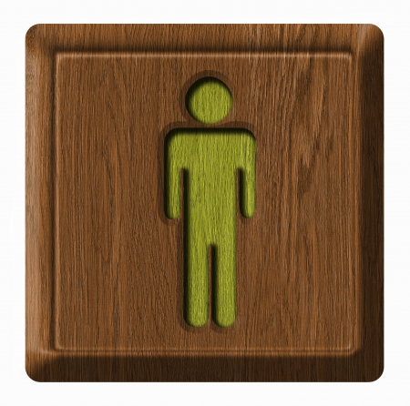 Men toilet wooden sign photo