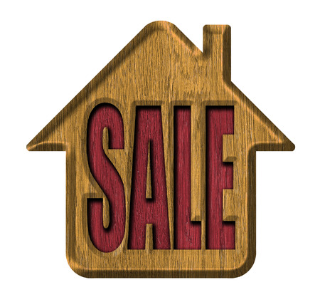 Wooden signs, house for sale Stock Photo - 23103539
