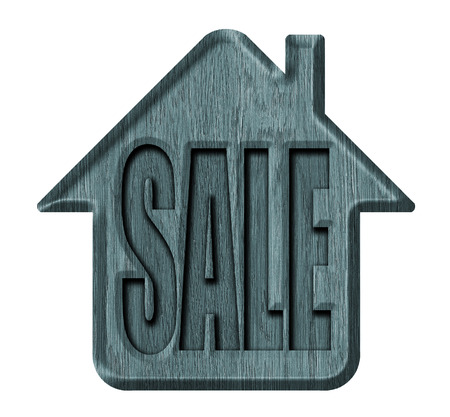 house for sale: Wooden signs, house for sale
