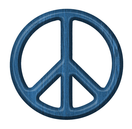 wooden peace sign photo