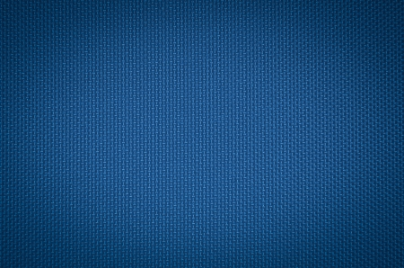 blue nylon fabric  texture background.