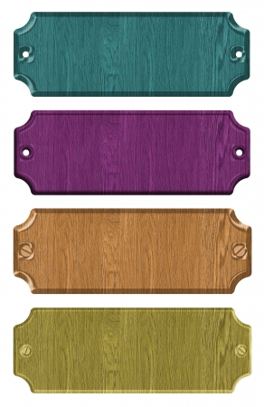 notice board: set of wooden tag