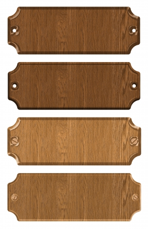 set of wooden tag photo