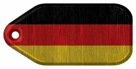 german flag on wooden tag Stock Photo