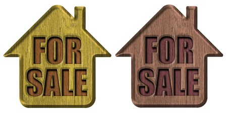 Wooden signs house for sale photo