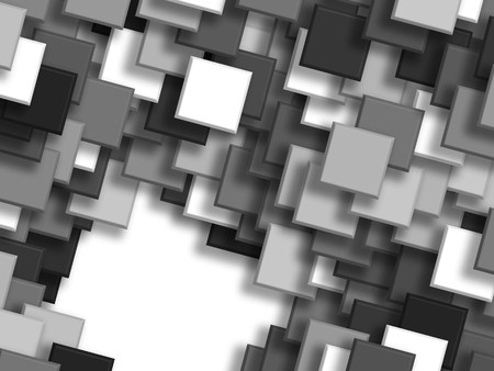 background overlapping Squares black and white