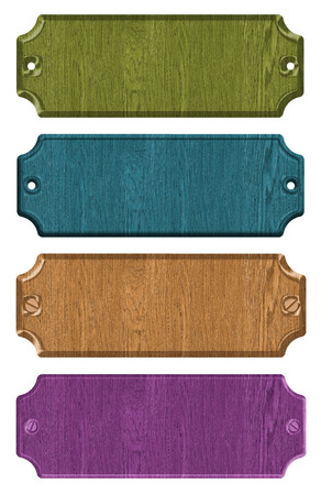 set of wooden tag