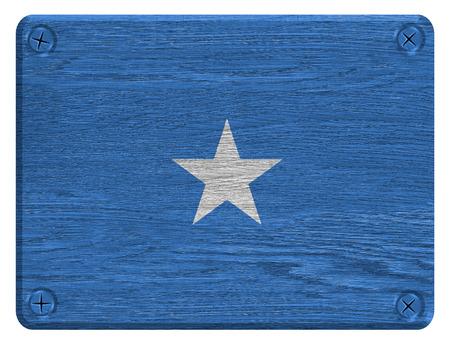 somali: Somalia flag painted on wooden tag