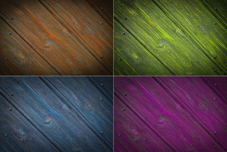 Set wood texture background photo