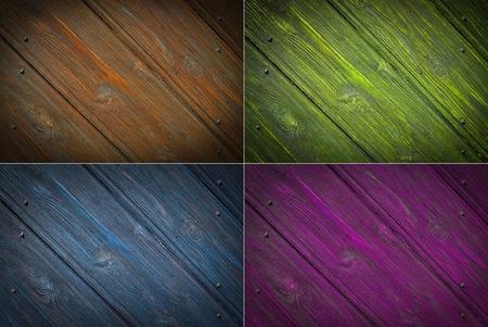Set wood texture background photo