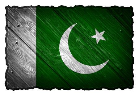 pakistan flag: Pakistan flag painted on wooden tag